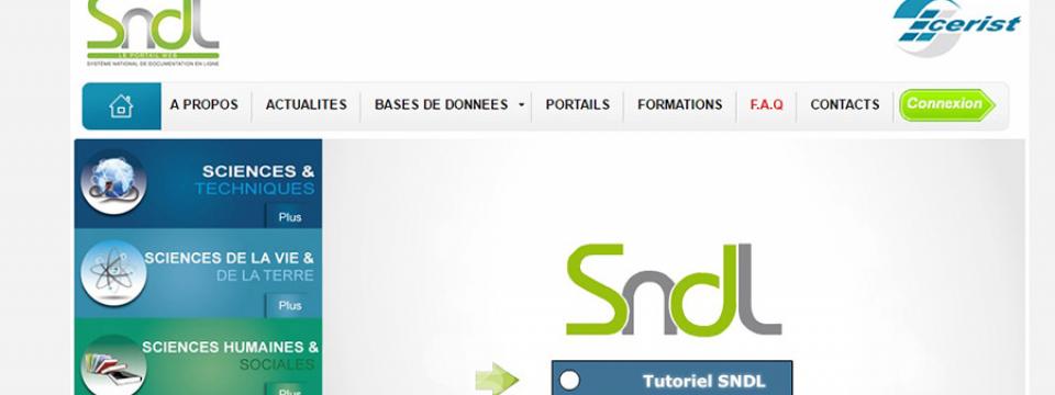 Nous invitons tous les post-graduants à l'inscription SNDL Système National de Documentation en Ligne